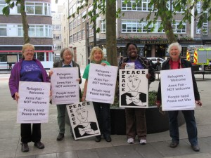 WILPF Exec on the streets 12 Sept 2105